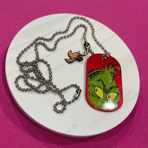 """Dr. Seuss Grinch Necklace With """"Max"""" Rare Find!"""